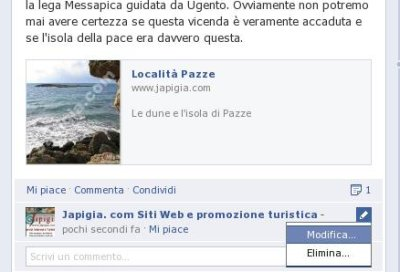 modifica commenti in facebook