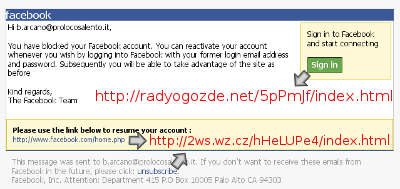 blocco account di facebook falsi